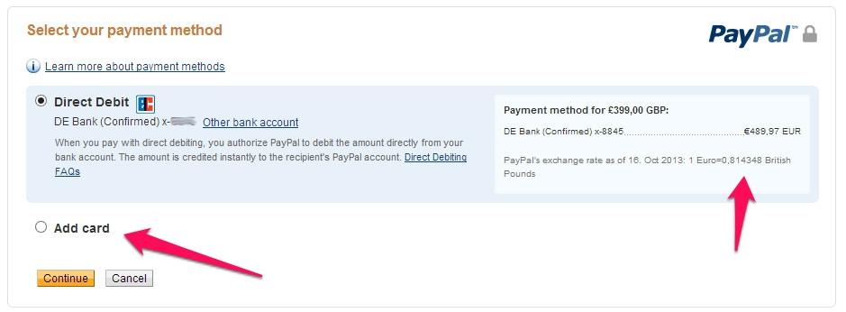 PayPals Währungsumrechner ist teuer