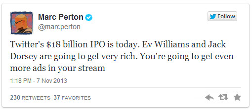About Twitter's IPO
