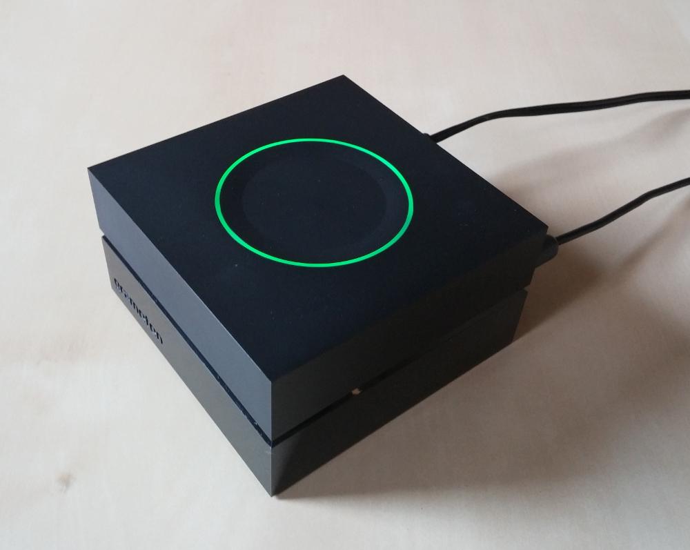 Mit dem Gramofon kann die heimische Stereoanlage zur Wiedergabe von Spotify genutzt werden (Bild: Copyright Benjamin Blessing).