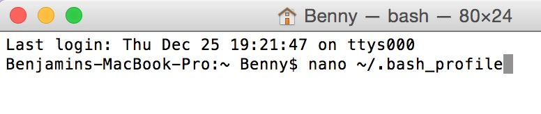 ADB OS X Terminal