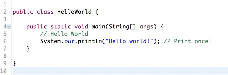 Java Hello World