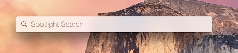 OS X Spotline Suche