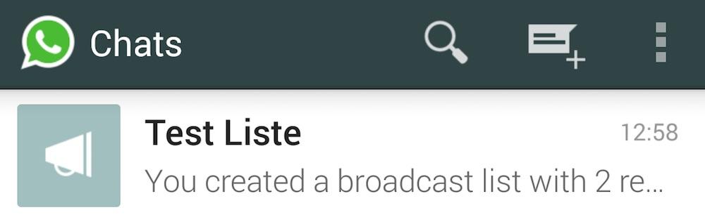 WhatsApp Broadcast Funktion