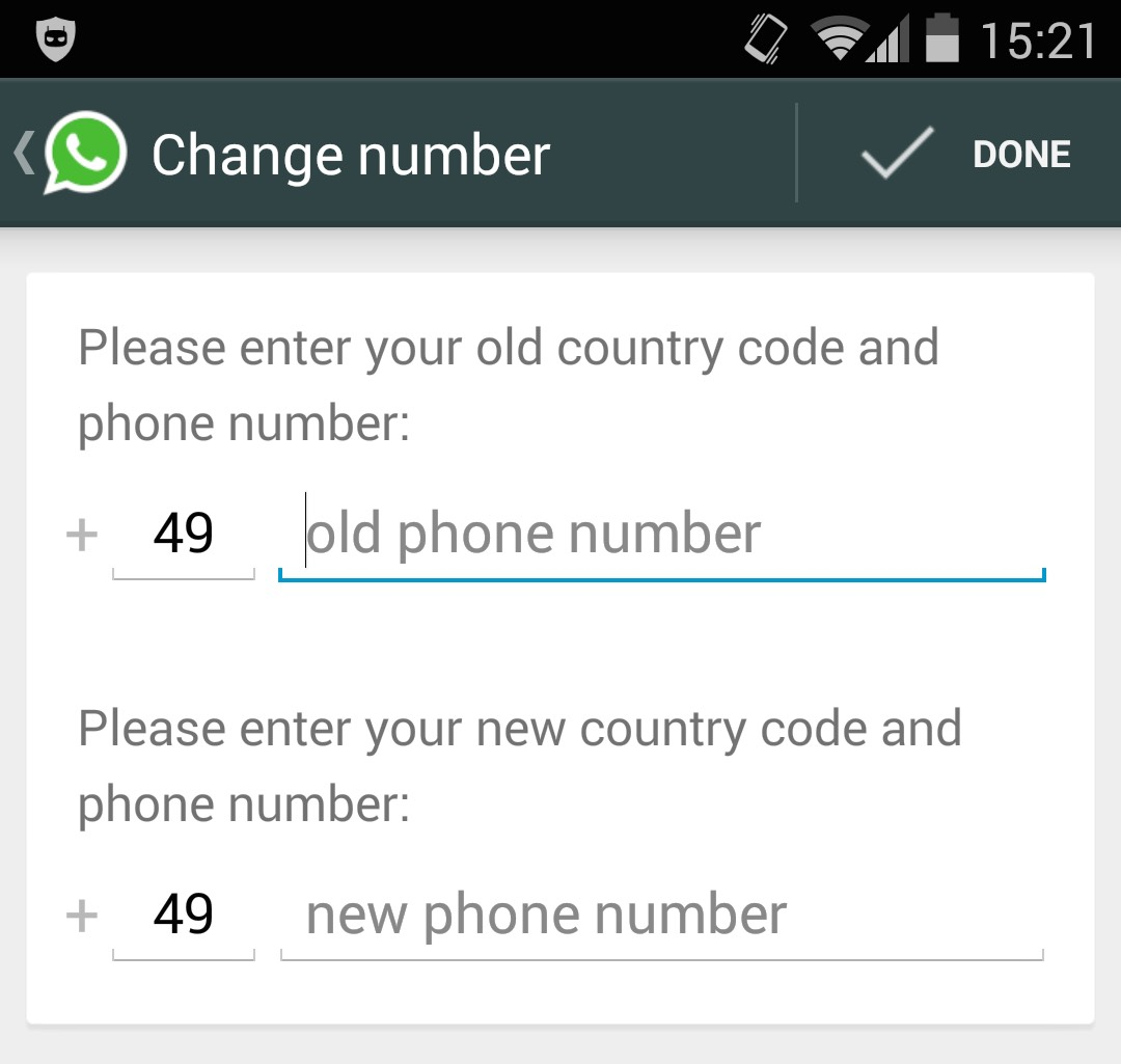 WhatsApp Rufnummer wechsel