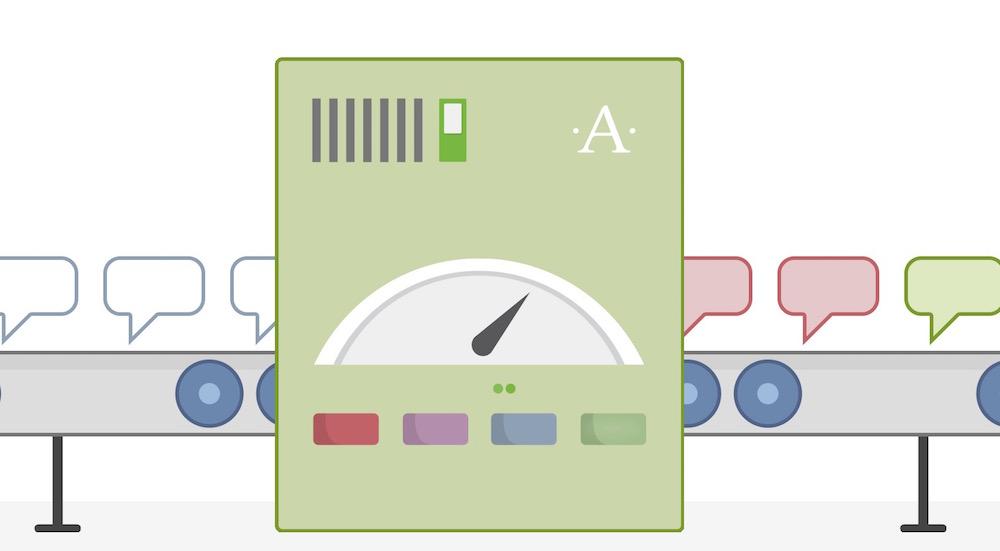 Grafische Darstellung von Akismet bei der Arbeit (Bild: Screenshot der Akismet.com Webseite).