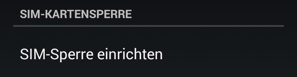 Wird die SIM-Sperre entfernt kann das Smartphone nach einem Neustart weiterhin ins Internet, auch wenn es durch eine Display-Sperre gesperrt ist (Bild: Screenshot Android).