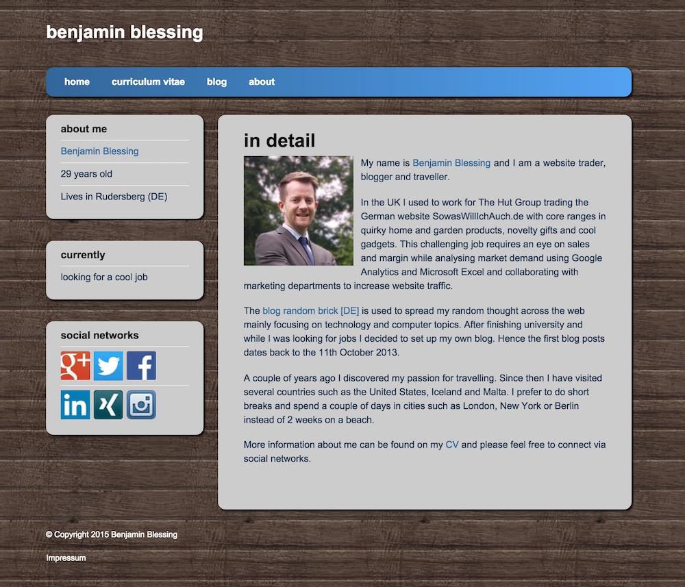 Blessing Online Com Meine Online Visitenkarte Randombrick De