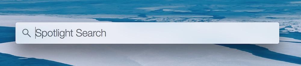 OSX Yosemite Spotlight