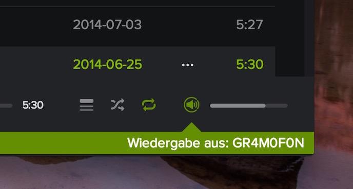 Spotify Beta unterstützt Spotify Connect auf dem Mac und PC (Bild: Screenshot Spotify für OS X).