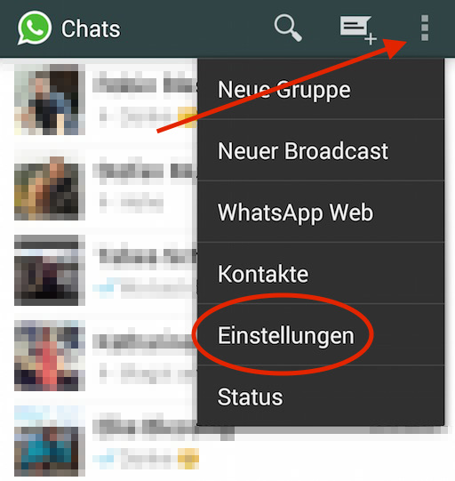 (Bild: WhatsApp App Screenshot).