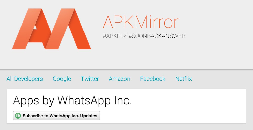 Der APKMirror enthält eine Vielzahl an Android Installationsdateien (Bild: Screenshot APKMirror).