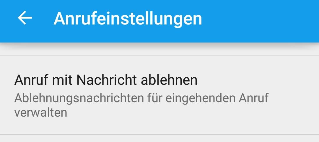 Anruf mit Nachricht ablehnen (Bild: Screenshot Android).
