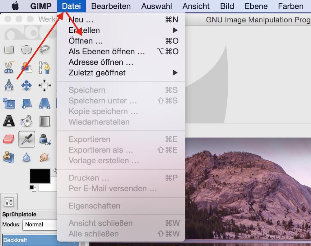 Bildausschnitte verpixeln mit GIMP (Bild: Screenshot GIMP).