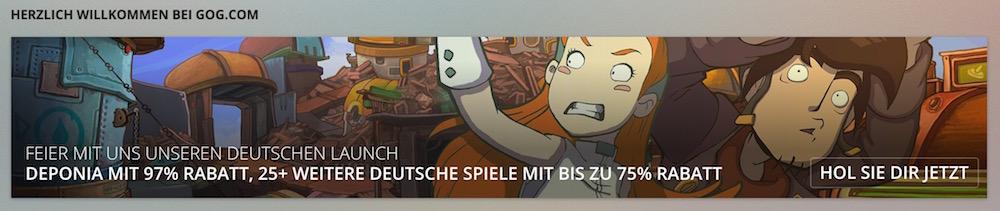 GOG.com gibt es ab jetzt auch in deutscher Spracher (Bild: Screenshot GOG.com).