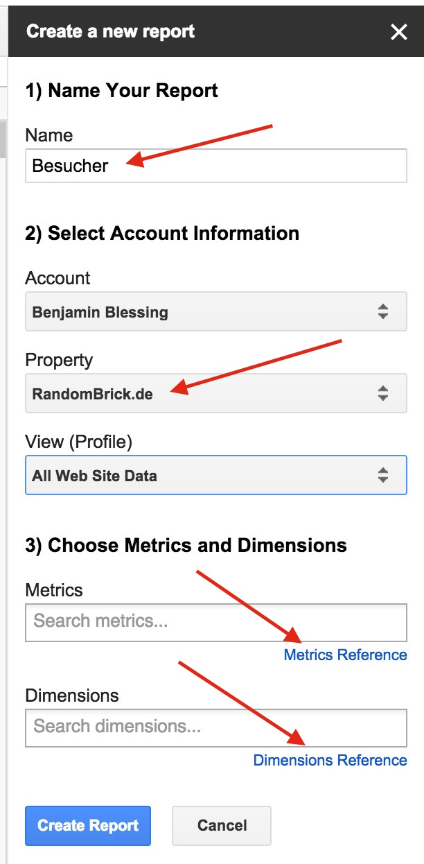 Die erstellten Berichte können nachträglich angepasst und erweitert werden (Bild: Screenshot Google Tabellen).