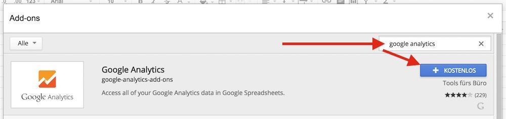 Google Tabellen kann durch zahlreiche Add-ons erweitert werden (Bild: Screenshot Google Tabellen).