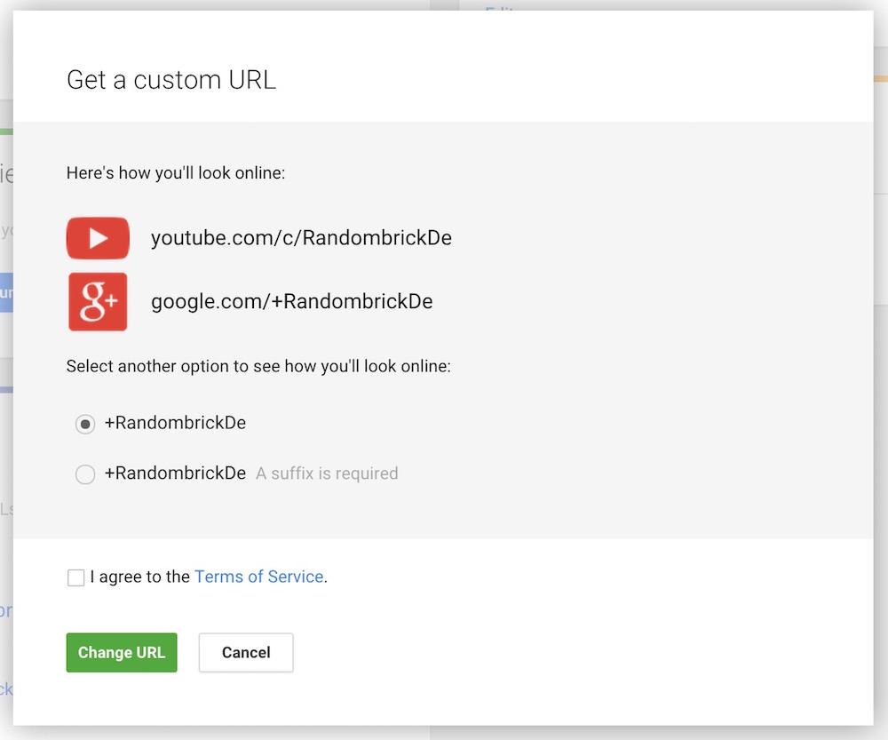 Nach drei Tagen warten, war die erwünschte Google+ Custom URL verfügbar (Bild: Screenshot Google+).