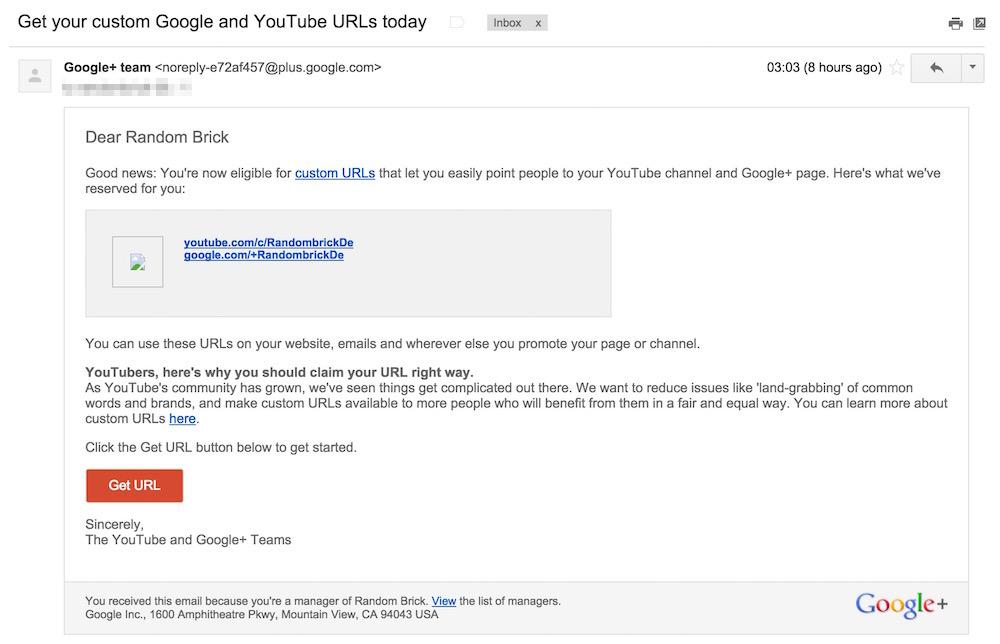 Drei Tage, nachdem das Google+ Team via Feedback kontaktiert wurde, erreichte mich folgende E-Mail (Bild: Screenshot).