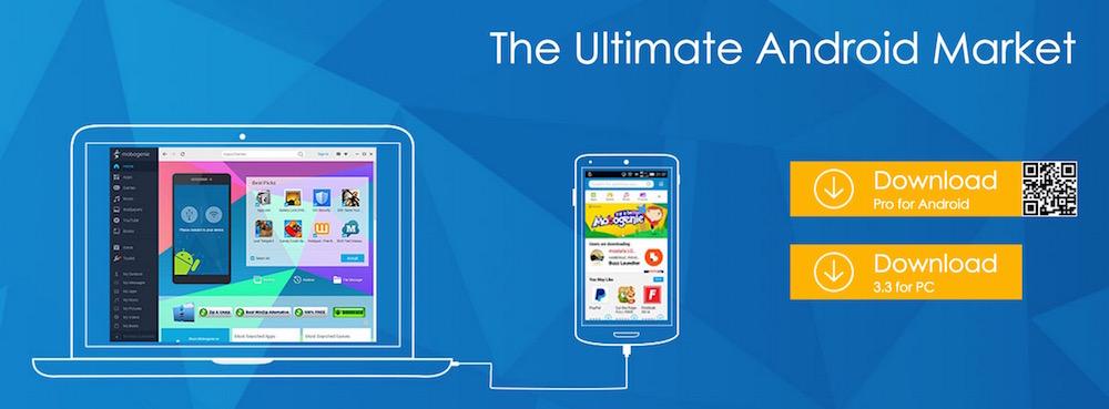 Der Mobogenie App-Store bietet zusätzlich eine PC Anwendung zur Datensicherung des Android Geräts an (Bild: Screenshot Mobogenie).