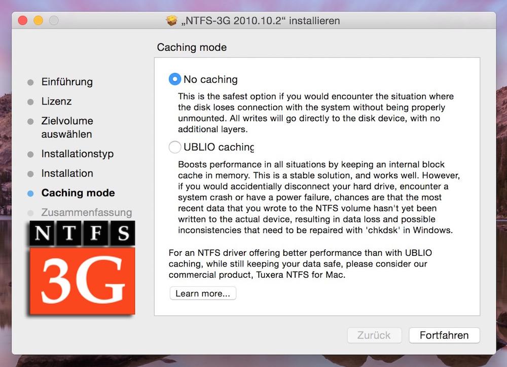 NTFS-3G macht macOS schreibfähig