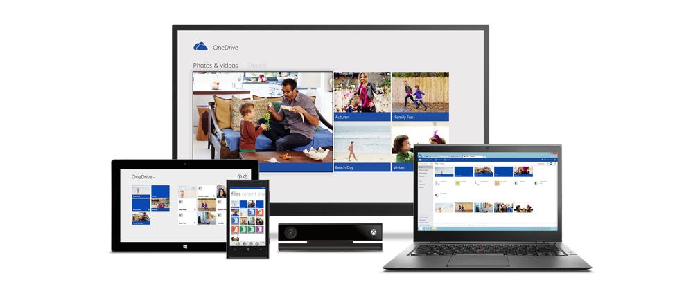 OneDrive ist Microsofts Cloud Speicher Lösung (Bild: Microsoft Press Images).
