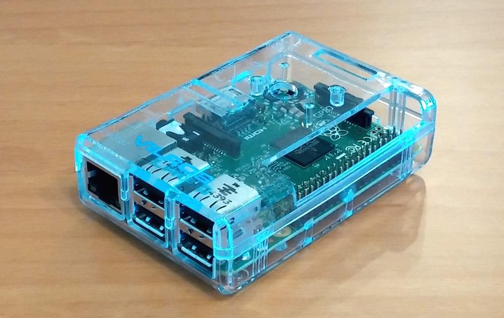 Plastikgehäuse zum Schutz des Raspberry Pi 2 (Bild: Copyright Benjamin Blessing).