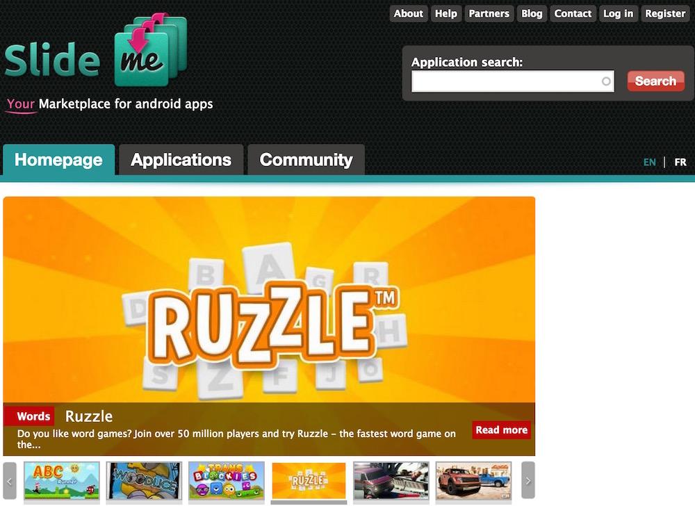 SlideME kann über den Browser oder via App verwendet werden (Bild: Screenshot SlideME.org).