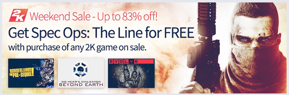2K Weekend Sale (Bild: Screenshot Humble Bundle).