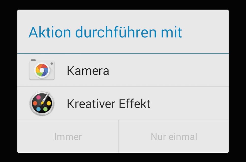 Android Standard-App ändern (Bild: Screenshot Android).