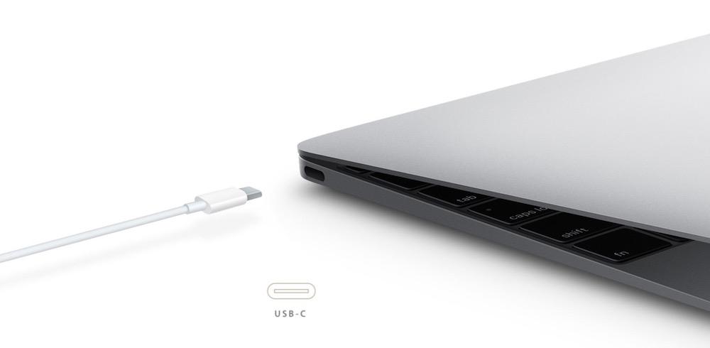 USB Typ-C im neuen MacBook (Bild: Screenshot Apple.de).