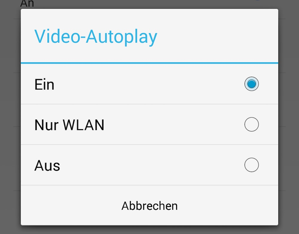 Facebook Video-Autoplay deaktivieren (Bild: Screenshot Facebook-App).