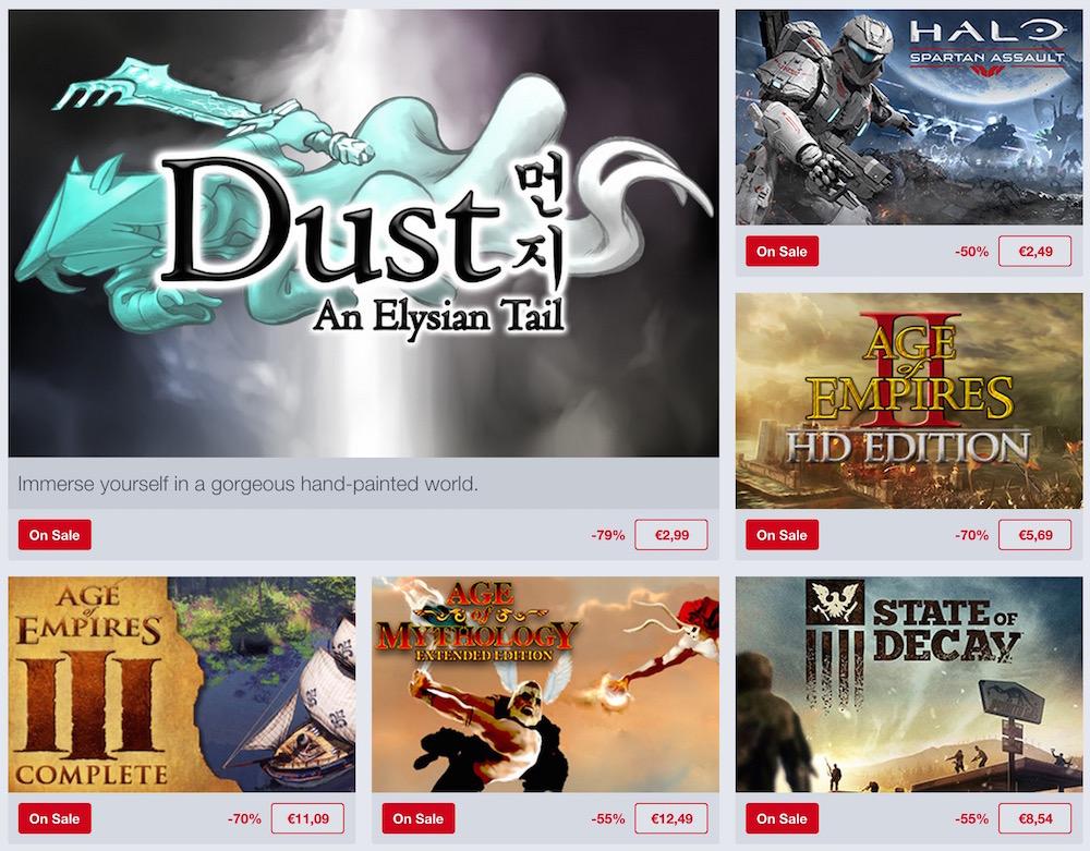 Nur dieses Wochenende im Angebot: Spiele von Microsoft Studios (Bild: Screenshot Humble Bunde).