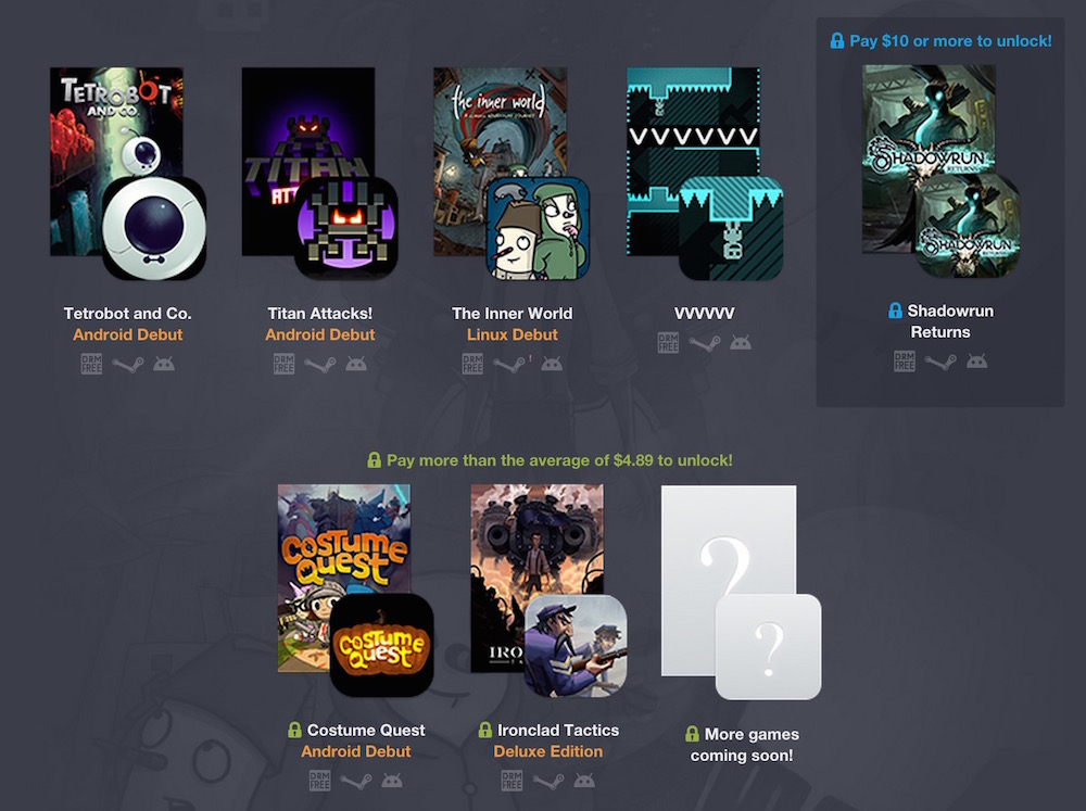Humble PC und Android Bundle 12 (Bild: Screenshot Humble Bundle).