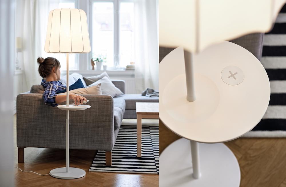 IKEA Design-Kollektion mit kabelloser Ladefunktion (Bild: IKEA Presse).