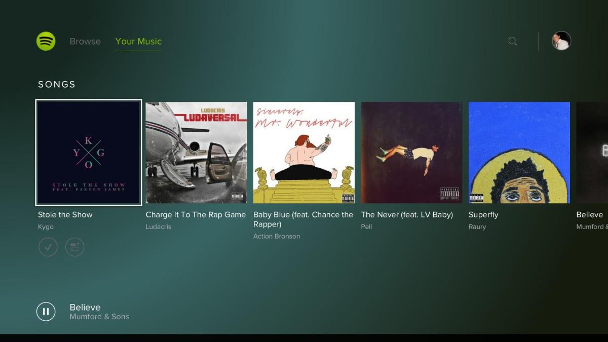 Spotify Widergabe ab sofort auf der PlayStation 4 (Bild: Spotify).