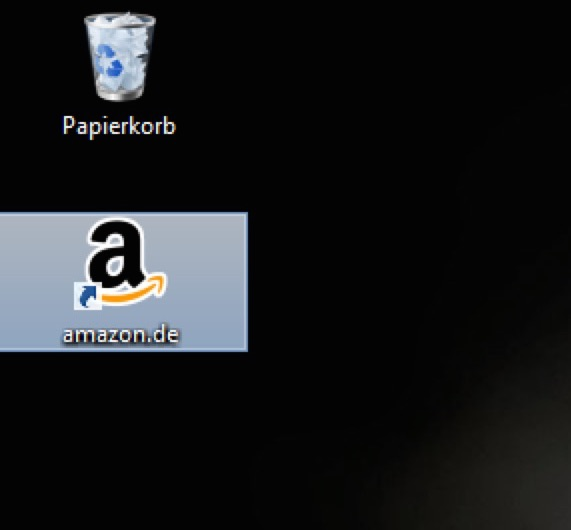 Amazon-Symbol installiert durch den Chip-Installer (Bild: Screenshot Windows Desktop).