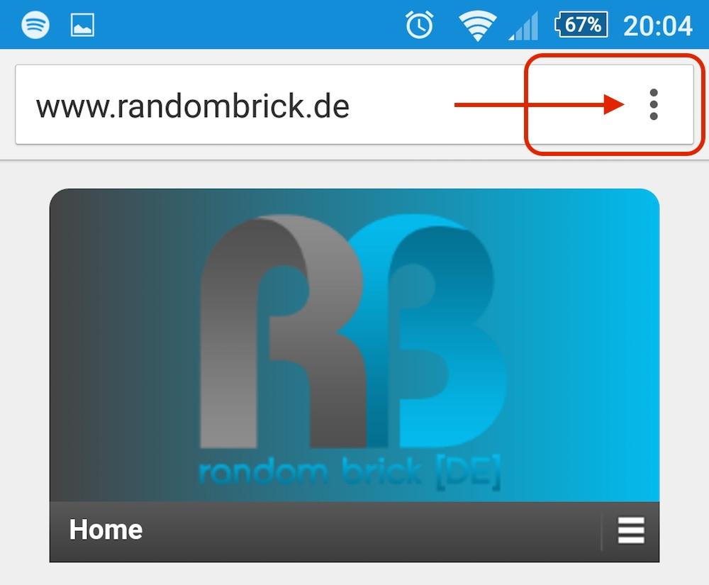 Zum Ändern die Chrome für Android Einstellungen öffnen (Bild: Screenshot Android).