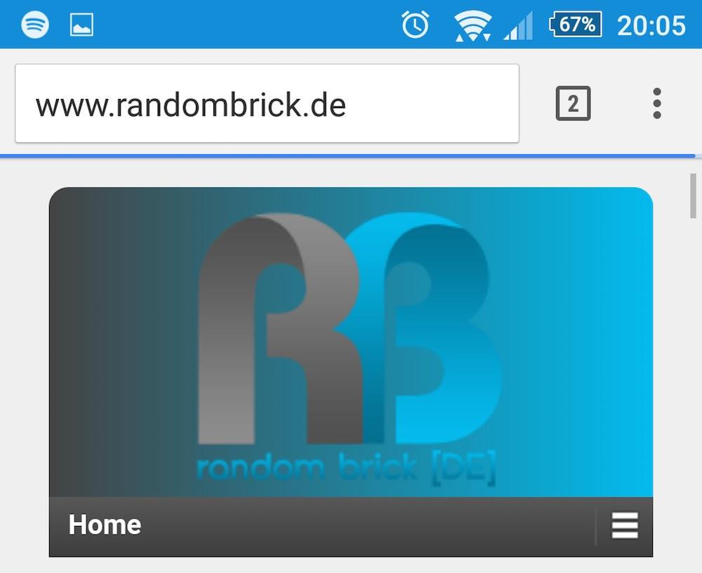 Anschließend sieht Chrome für Android aus wie gewohnt (Bild: Screenshot Android).