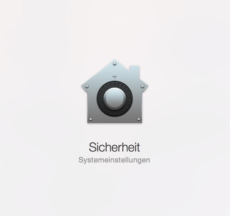 OS X Sicherheitsoptionen in den Systemeinstellungen (Bild: Screenshot OS X).