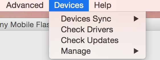 Über Devices Check Updates durchführen (Bild: Screenshot Flashtool).