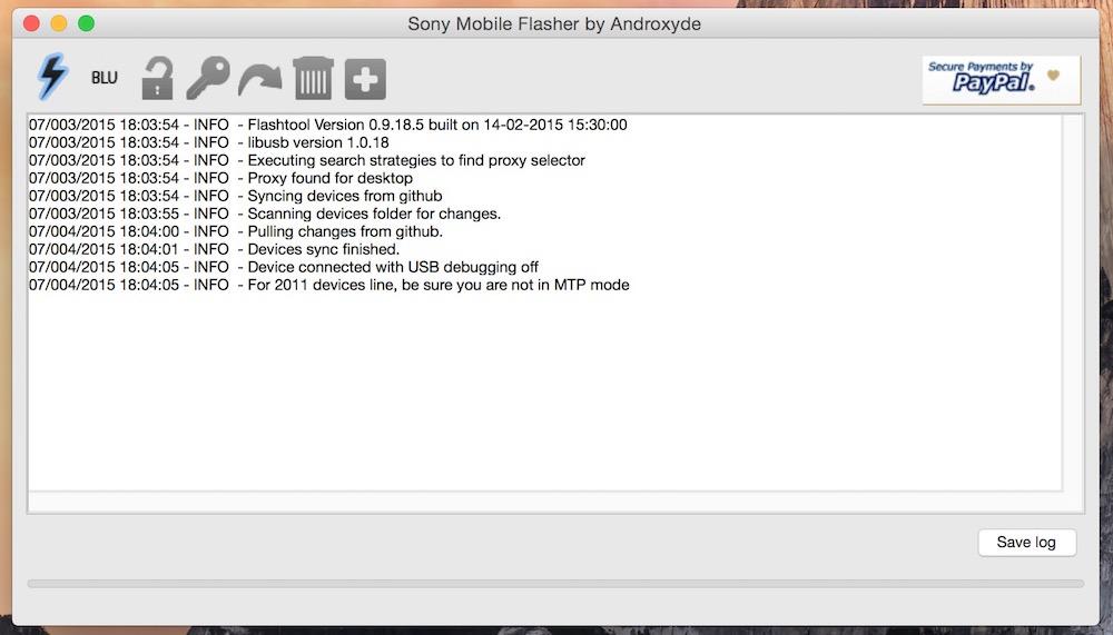 Flashtool zum Aufspielen von Android (Bild: Screenshot Flashtool).