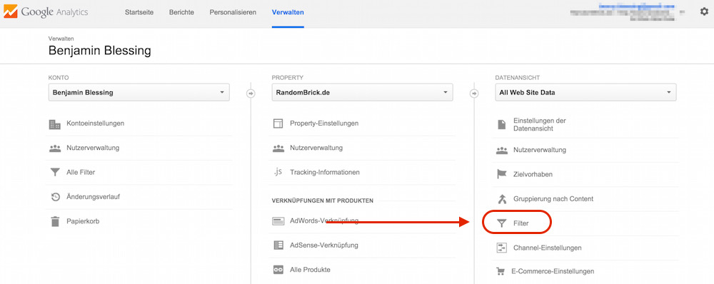 Google Analytics Spam: Verweis Traffic blockieren (Bild: Screenshot Google Analytics).