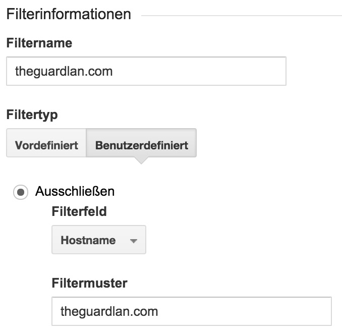 Filter 3 in Google Anaytics (Bild: Screenshot Google Analytics).