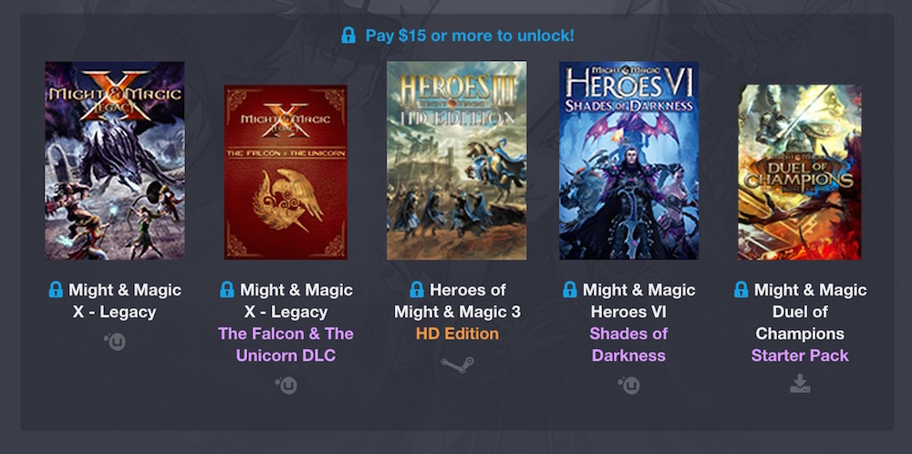 Humble Might & Magic Bundle (Bild: Screenshot Humble Bundle).