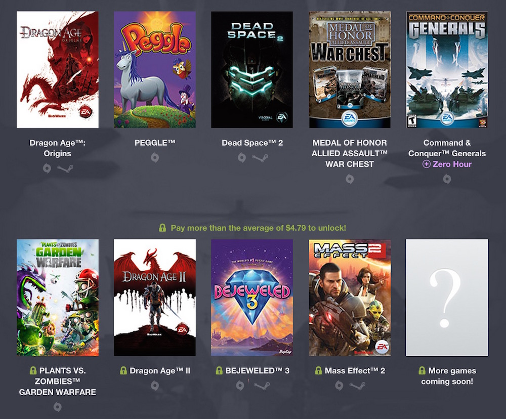 Humble Origin Bundle 2 (Bild: Screenshot Humble Bundle).