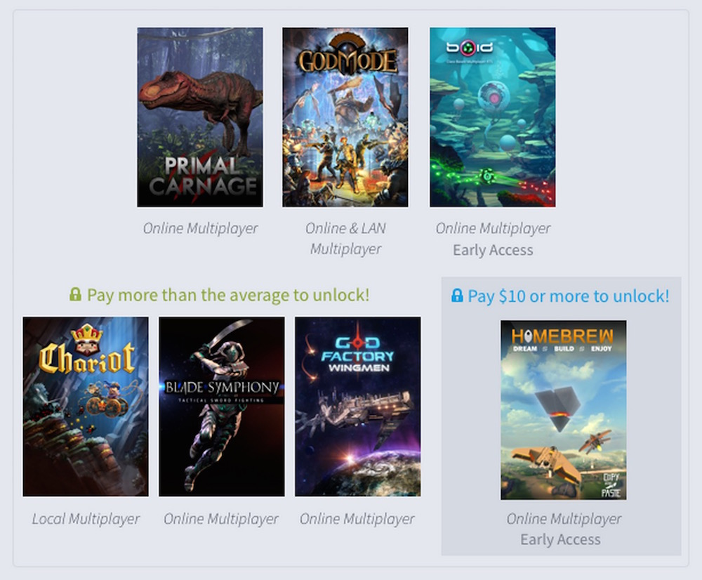 Humble Weekly Bundle Multiplayer Mayhem (Bild: Screenshot Humble Weekly Bundle).