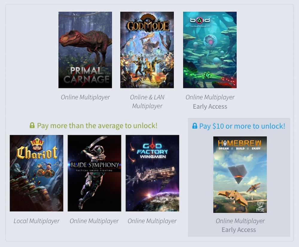 Humble Weekly Bundle Multiplayer Mayhem (Bild: Screenshot Humble Weekly Bundle).