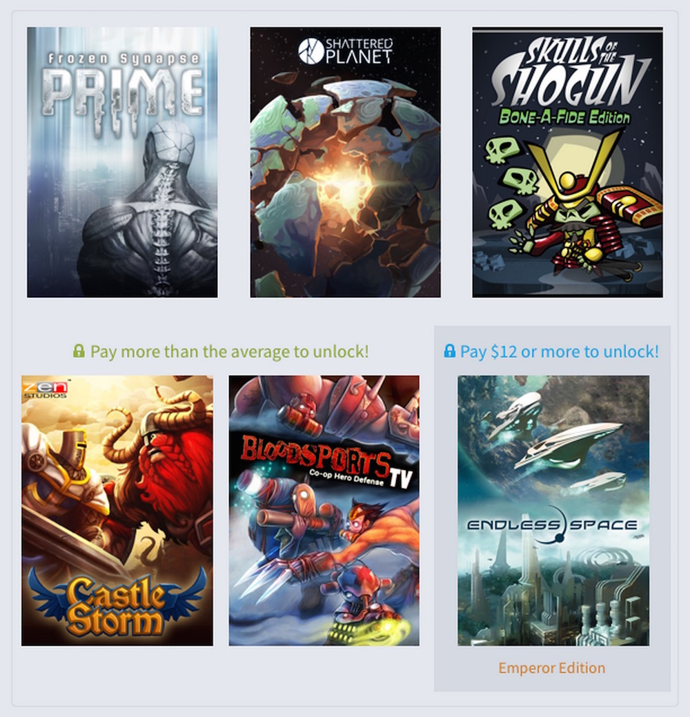Humble Weekly Bundle Strategy 2 (Bild: Humble Bundle).