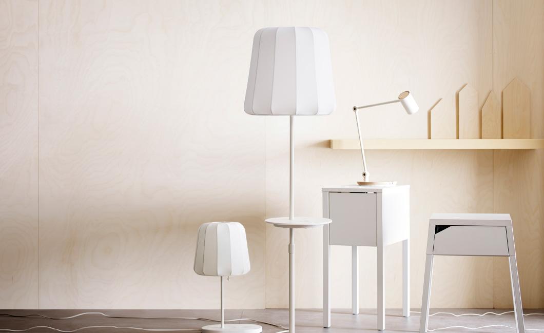 IKEA Stehlampe mit Qi Technologie (Bild: IKEA).