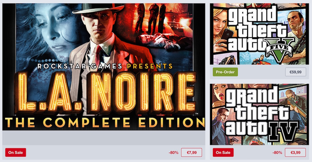 Humble Store Rockstar Weekend Sale (Bild: Screenshot Humble Store).